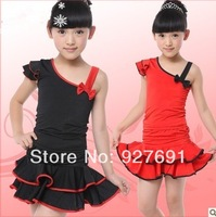 Free Shopping 2014 Spring And Summer Latin Dance Skirt Female Child Dance Leotard Costume Latin dance clothes