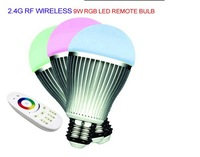 2014 LED remote bulb changeable color 9W RGB led lamp E27 2.4G RF Wireless LED Bulb