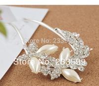 [DHL Free Shipping] Top Sales wedding party elegant posh butterfly pearl rhinestone crystal hair sticks hairpin 10pcs/lot
