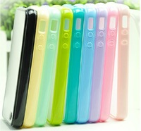TPU Silicone Sleeve Cover Cases shell Candy Color For iPhone4 4S Frosted Transparent Shell Phone Case For iPhone 4 4S 1000pcs