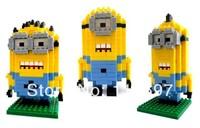 Free CN Shipping Despicable Me Minion 3 Sets LOZ Diamond Blocks Nano Mini Building Blocks Toys