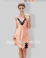 Free shipping /Drop shipping Women's summer Hot sale sexy silky  emboridery lace nightgown dress/ sleep /wear pajamas 14153