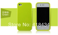 NEWEST Simple Design Solid Candy Color Protective Back Cover Case For Iphone 4/4S (Assorted Colors) 500pcs DHL free ship
