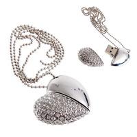 Crystal Heart Necklace Model 4GB-32GB USB2.0 Enough Memory Stick Pen Drive L001