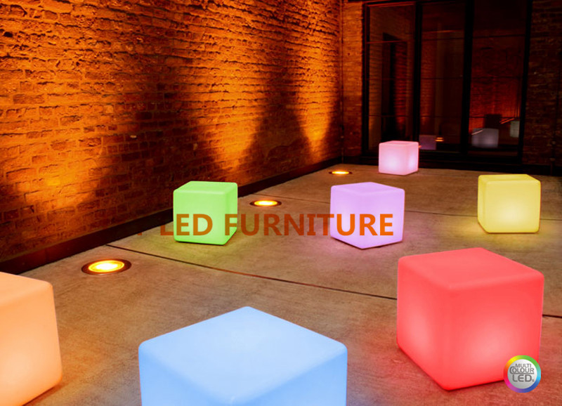 25*25*25cm, rechargeable ball, led cube,bar chair, 3d rgb led cube(China (Mainland))