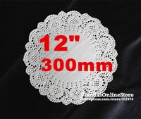 "Wholesale 400Pcs/lot 12""inch / 30cm White Round Dollies Cake Doilies"
