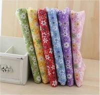 6 Color Lovely Flower Plain Cotton fabric,Fabrics Handwork DIY Patchwork Fabric Cotton 50*50CM