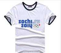 Free Shipping Sochi Olympic Rings T-Shirt  Ring Fail Design Winter Games Opening Ceremonies Women Men Cloth