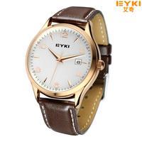 Promotion 2014 New Popular Brand Gloden Men's Clocks Women Fashion Leather Quartz Watches Male Casual Watch Shop Wholesale Price