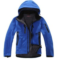 2014 full waterproof zipper male soft shell fleece clothing windproof breathable outdoor casual clothing S-XXL