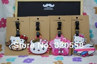 4PCS HELLO KITTY  MIX style PVC luggage tag / baggage tag / cute baggage claim tag / Travel Name Tag