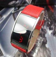 Free Shipping fashion Leather Wrist Watch men women Sports Digital Led Watch BE313
