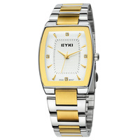 Men's Stainless Steel Watches Brand EYKI Quartz Watch Analog Relojio Online Clock Drop Ship Gold Color Rhinestone Style