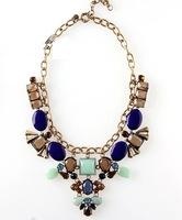 2014  wholesale fashion necklaces & pendants chunky choker bib design bubble JC pendant Necklaces statement jewelry for women