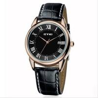Eyki Authentic Roman Calendar Quartz Watch Vintage Leather Strap Clock Date Calendar Vintage Classic Casual relogio