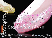 2014 New hot selling fashion lady's jelly shoes transparent  Melissa Chili Diamond Crystal flat Sandals women 4color #689