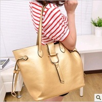 2013 large gold and silver vintage women's handbag fashion women's handbag picture package one shoulder handbag