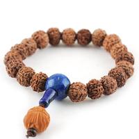 11-12mm kumgang bodhi bracelet lapis lazuli buddha head male Women birthday gift