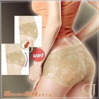 Women's buttock underwear Abundant buttocks non-trace breathable sexy hip pad ass underwear briefs lace