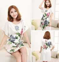 Hot-selling summer silk suzhou isconvoluting silk nightgown sleepwear lounge