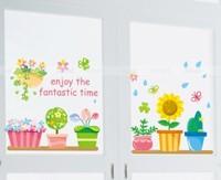 Real child sofa windowsillxia glass decoration stickers fresh flower pot