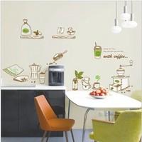 Dessert decoration tableware sooktops coffee wall stickers