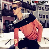 Spring sweater men's clothing sweater pullover top trend slim sweater