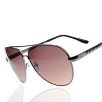 2014 metal sunglasses male women's double beam classic large sunglasses sun glasses sunglasses 8119