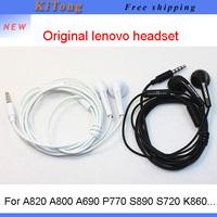 Free shipping,100% original Lenovo earphone 3.5mm headset 120cm headphones stereo headphone for a820 a800 p770 s890 s720 k860