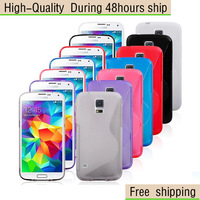 High Quality S Line Soft TPU Case Cover For Samsung Galaxy S5 SV i9600 Free Shipping UPS DHL EMS HKPAM CPAM SOW-3