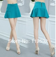 Free shipping! 2014 new style Korea women fashion shorts skirts,High waist  fishtail hem skirt,size S,M,L,XL