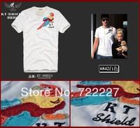 New 2014 Men's T Shirt Print Sewing Short Sleeve Cotton T-shirts Male Quality Fashion Brand Design Slim Tshirt For Men TT6842XX
