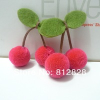 30pcs 25mm Diameter Medium Pink Pom Pom Ball Cherries For Carfts Supplies