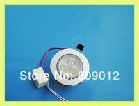 high power LED ceiling light lamp 3W LED down light LED spot light indoor lighting AC85-265V free shipping