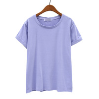 2014 spring women's macaron all-match o-neck casual loose short-sleeve T-shirt female ab976