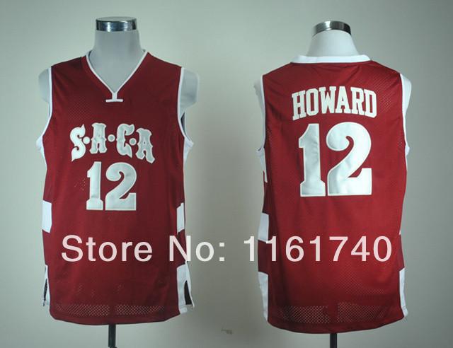 Get Cheap NCAA SACA High School Jersey Online Shop,Save Much Money #12 Dwight Howard Red College Basketball Jerseys Wholesale(China (Mainland))