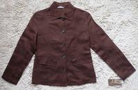 Linen linen blazer short jacket female linen top