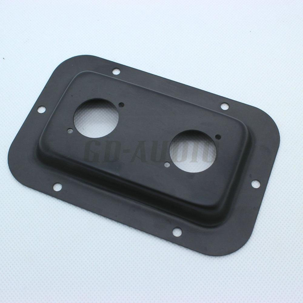 2PCS Blank Black Steel Plate for Mounting Dual Speakon Jacks of Speaker Cabinet(China (Mainland))