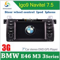 2 din Car DVD Car radio For BMW E46 M3 3 series with GPS Car Radio Car stereo Bluetooth TV Iphone Russian menu 3G optional
