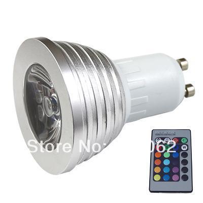 4W GU10 RGB light LED Light Bulb Lamp 16 Color Power Saving IR Remote Control---951649-L0153(China (Mainland))