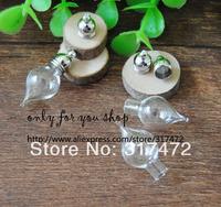 Free ship!! 50set/lot  Glass Vial Pendant Perfume wish Bottle with mental cap DIY Jewelry Pendant