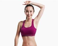 Free shipping, padded full cup shoulder strap cropped top bra, yoga sport bra top, halter cropped running bra underwear