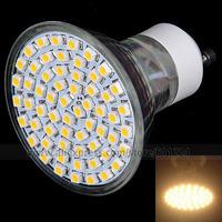 4pcs/Lot GU10 60-SMD 3528 LED 3000-3500K 220-240V 4W 400 Lumens Spotlight