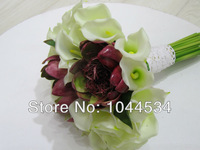 FREE SHIPPING High-end Wedding Bouquet Floral Callas Hand Bouquet Han Edition Style Wedding Flowers Bridal Bouquets HOT SALE