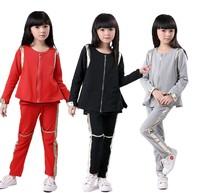 2014 girls sport suit three-piece suit children