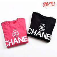 2014 autumn ssur logo channel letter male Women lovers pullover sweatshirt