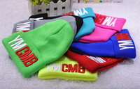 Foreign trade explosion models wool cap knitted hat YMCMB hats candy color stretch hip hop Beanie 5pcs