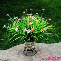 Artificial Flower Artificial Flower Plastic Flower Artificial Grass Lucky Grass Fashion Home Decoration Flower Vase