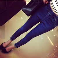 Elastic Dark Blue 8833# 2014 New elastic denim legging  Free shippng