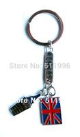 2014 new London souvenirs key chain UK key ring I London big ben with Union Jack free shipping ! KR011